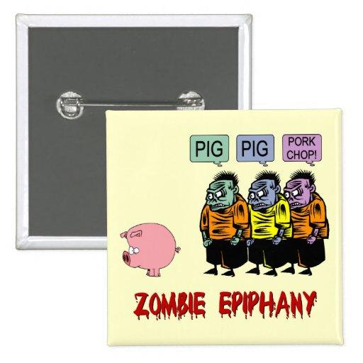Zombie Halloween Pin