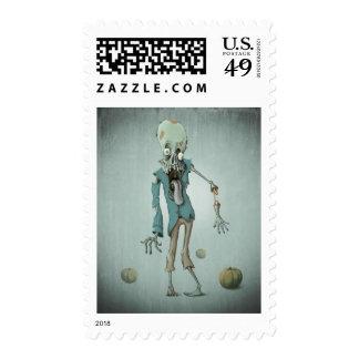 Zombie halloween postage