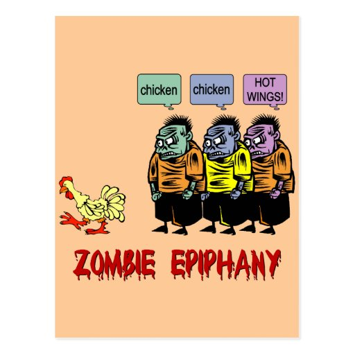 Zombie Halloween Post Cards