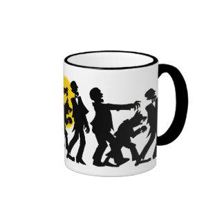 Zombie Halloween Ringer Mug