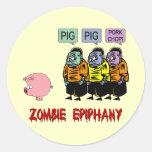 Zombie Halloween Round Sticker