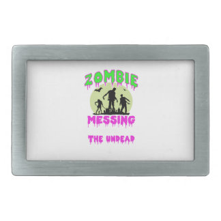 Zombie halloween tee belt buckle