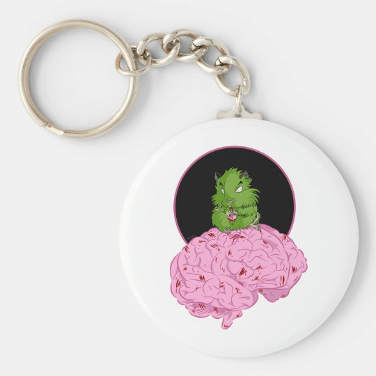 Zombie Hamster Keychain