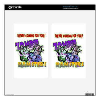 ZOMBIE HAMSTERS! KINDLE FIRE DECALS