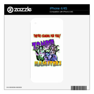 ZOMBIE HAMSTERS! SKIN FOR iPhone 4S
