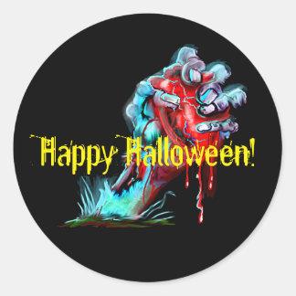 Zombie Hand Bleeding Heart Sticker