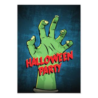 Zombie hand Halloween Party Invitation