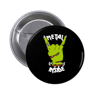 zombie hand metal inside button