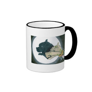 zombie hand shadowpuppets 1 ringer mug
