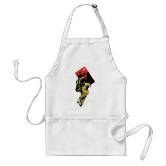 Zombie hand with Hearts Card Adult Apron
