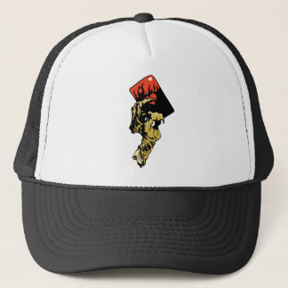 Zombie hand with Hearts Card Trucker Hat
