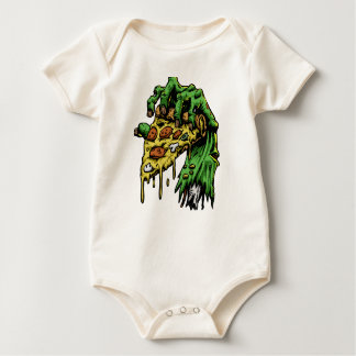 Zombie hand with pizza baby bodysuit