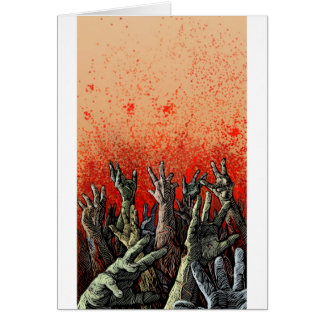Zombie Hands Card