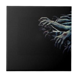 Zombie hands ceramic tile