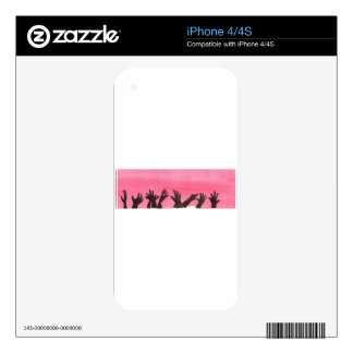 Zombie Hands On Pink iPhone 4 Decal