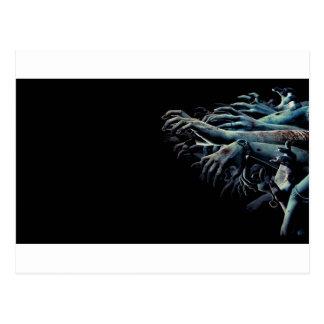 Zombie hands postcard