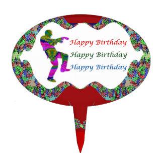 Zombie HappyBirthday HAPPY Birthday Text n Lips Cake Topper