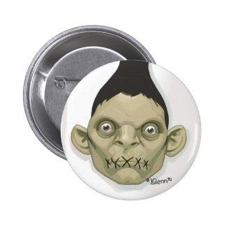 zombie head 2 inch round button