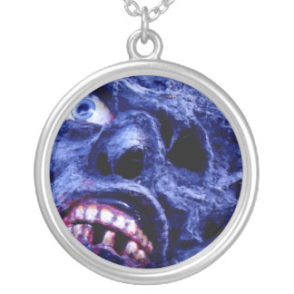 Zombie Head by Living Dead Girl Nicole on a Neckla Round Pendant Necklace