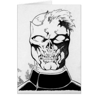 Zombie head card