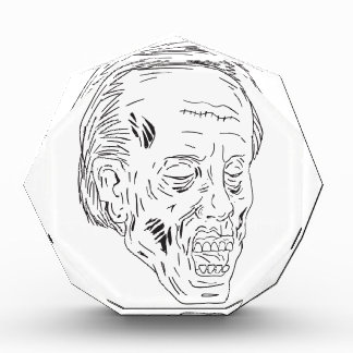 Zombie Head Eyes Closed Drawing Award