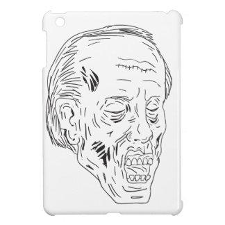 Zombie Head Eyes Closed Drawing iPad Mini Covers