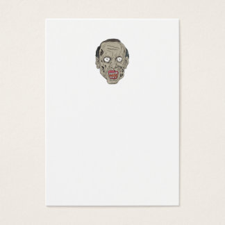 Zombie Head Front Drawing Business Card