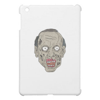 Zombie Head Front Drawing iPad Mini Covers