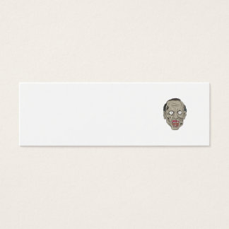 Zombie Head Front Drawing Mini Business Card