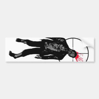 zombie head shot bumper sticker car bumper sticker