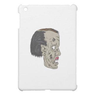 Zombie Head Side Drawing iPad Mini Cases