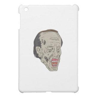 Zombie Head Three Quarter View Drawing iPad Mini Case