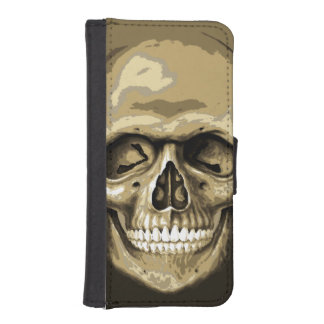Zombie Headbone Skull Wallet Phone Case For iPhone SE/5/5s