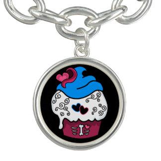 Zombie Heart Cupcake Bracelet