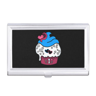 Zombie Heart Cupcake Business Card Holder