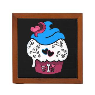 Zombie Heart Cupcake Desk Organizer
