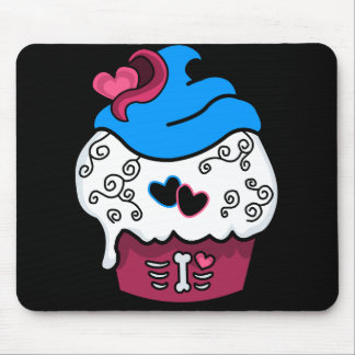Zombie Heart Cupcake Mouse Pad