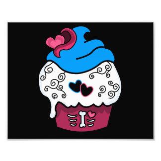 Zombie Heart Cupcake Photo Print