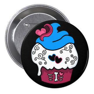 Zombie Heart Cupcake Pinback Button