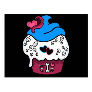 Zombie Heart Cupcake Postcard