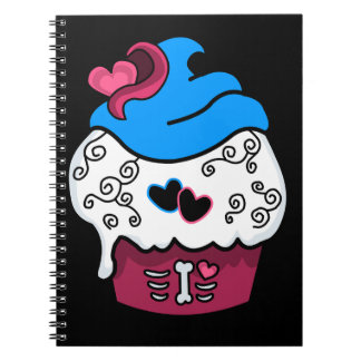 Zombie Heart Cupcake Spiral Notebook