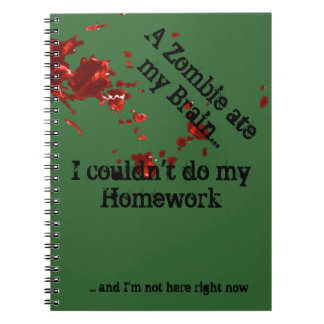 Zombie Homework Spiral Notebook