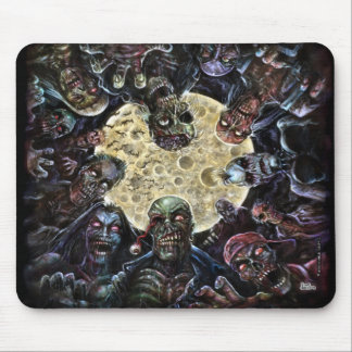 Zombie horde attack mouse pad