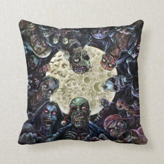 Zombie horde attack throw pillows