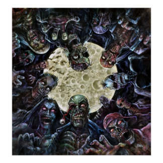Zombie horde attack poster