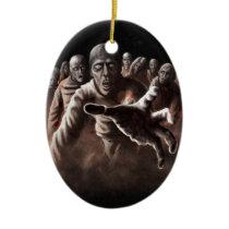 Zombie Horde Ceramic Ornament