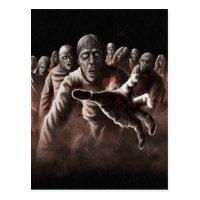 Zombie Horde Postcard