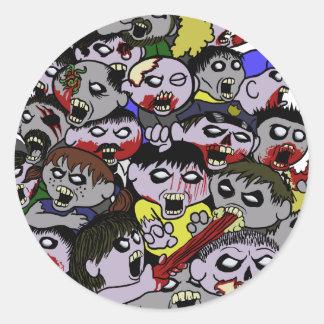 Zombie Horde Stickers