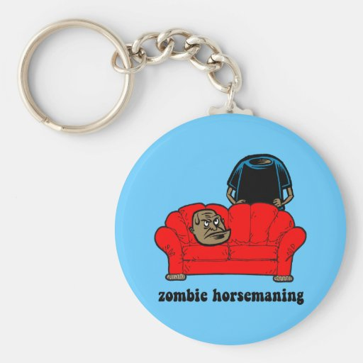 zombie horsemaning keychain