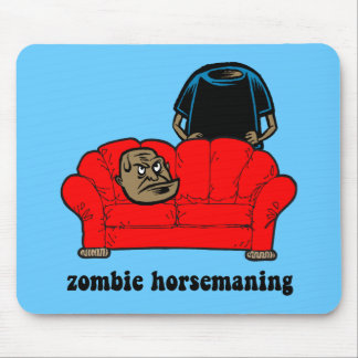 zombie horsemaning mouse pad